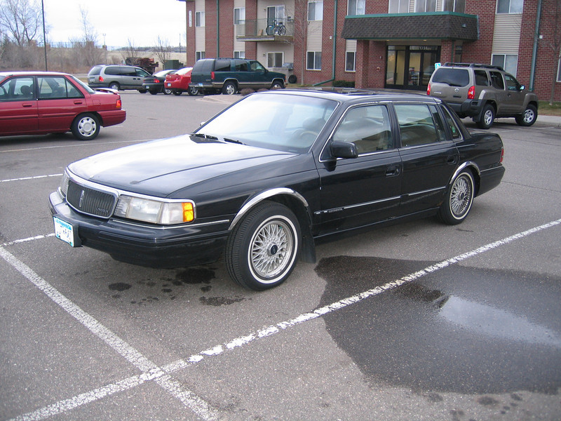 1990 lincoln continental information and photos zombiedrive. Black Bedroom Furniture Sets. Home Design Ideas