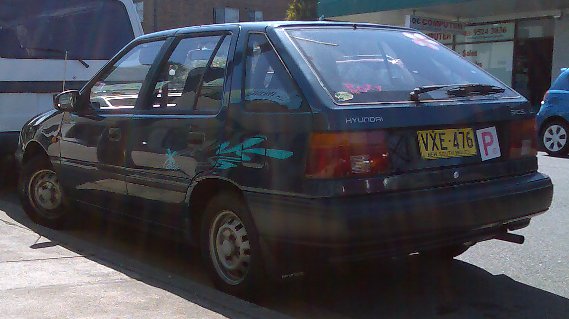 Hyundai Excel on 1991 hyundai excel hatchback
