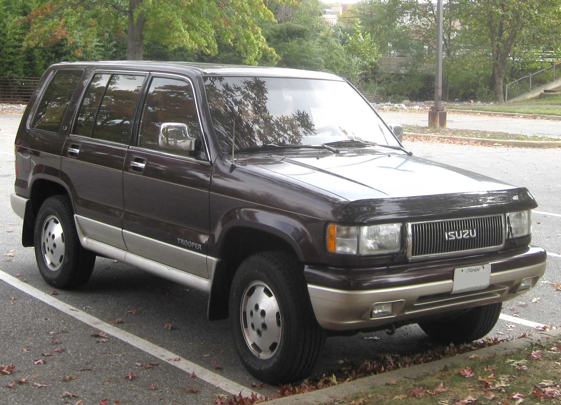 1992 isuzu trooper information and photos zombiedrive