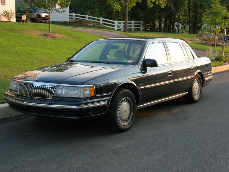 1992 lincoln continental information and photos zombiedrive. Black Bedroom Furniture Sets. Home Design Ideas