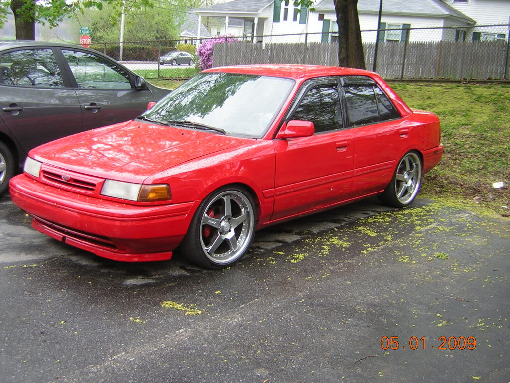 1991 Mazda Protege Red | 200  Interior and Exterior Images