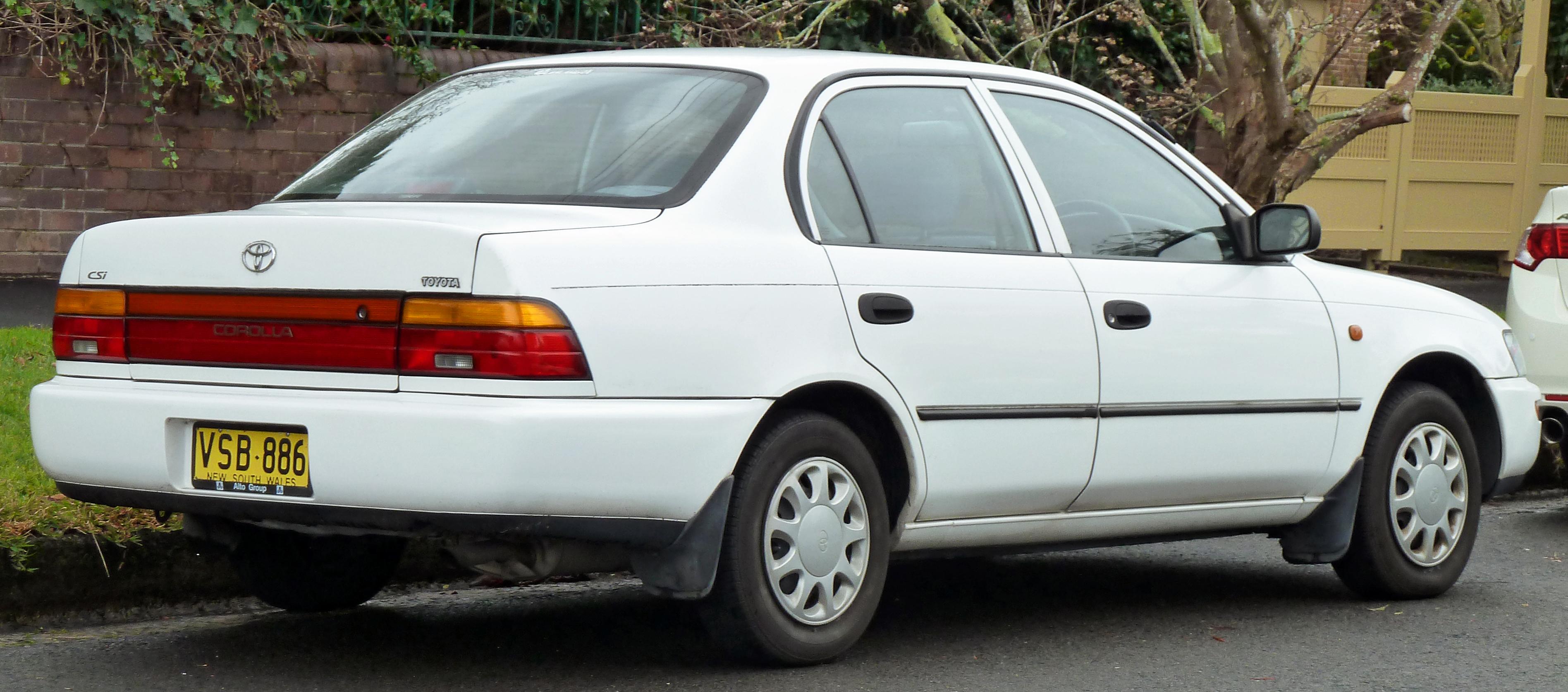Car Diagram Of A Toyota Corlla
