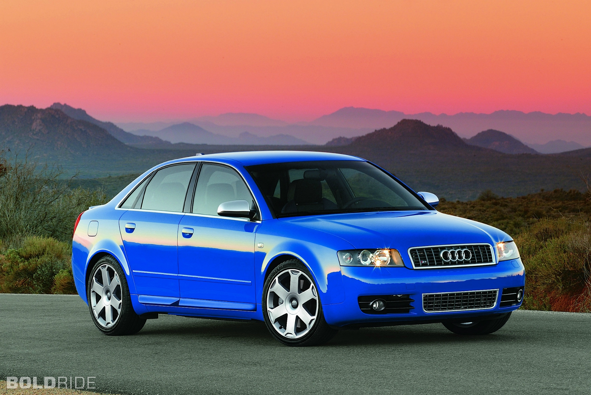 2002 Audi S4 Blue 200 Interior And Exterior Images