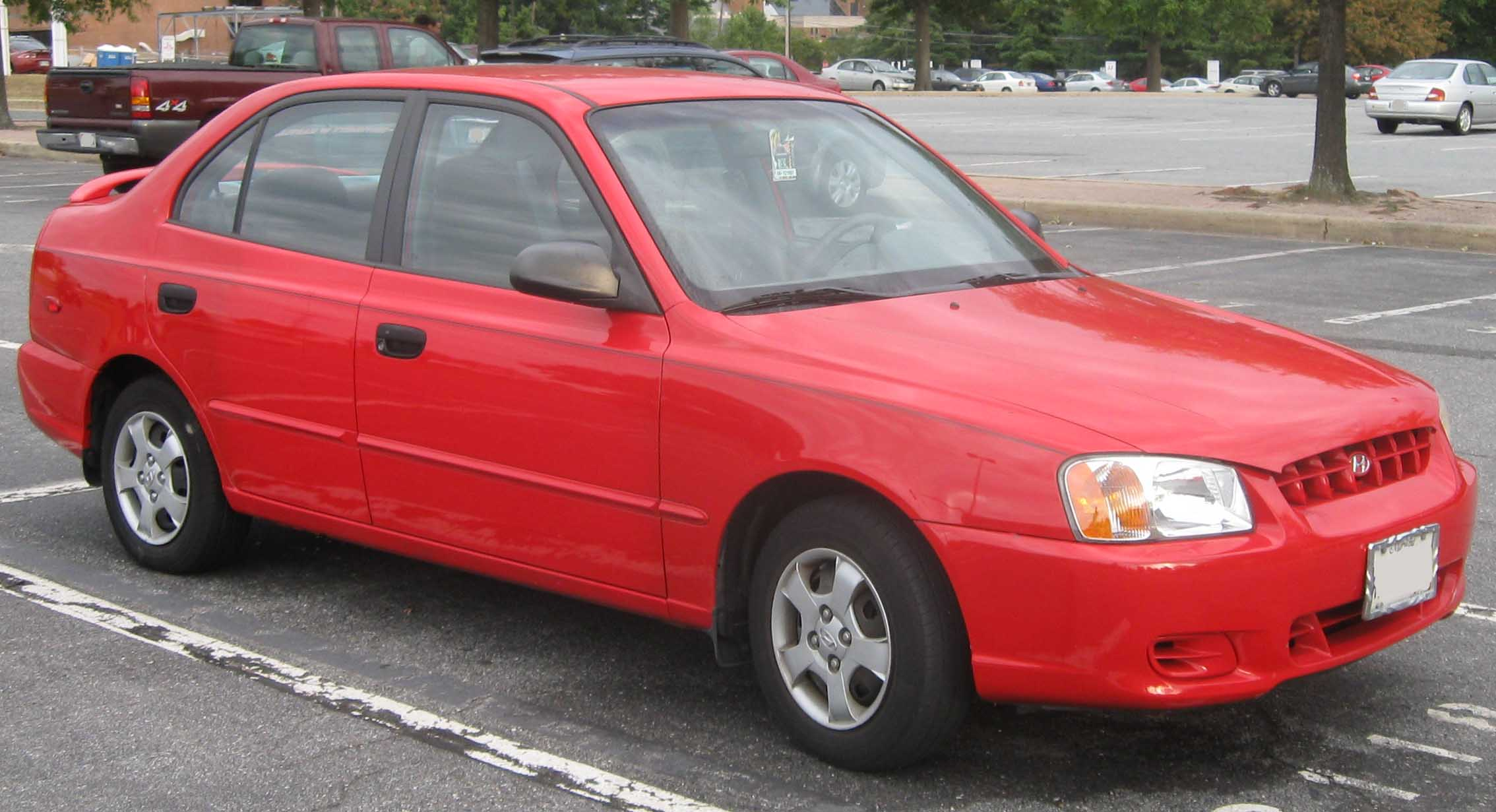 2002 Hyundai Accent Red 200 Interior And Exterior Images