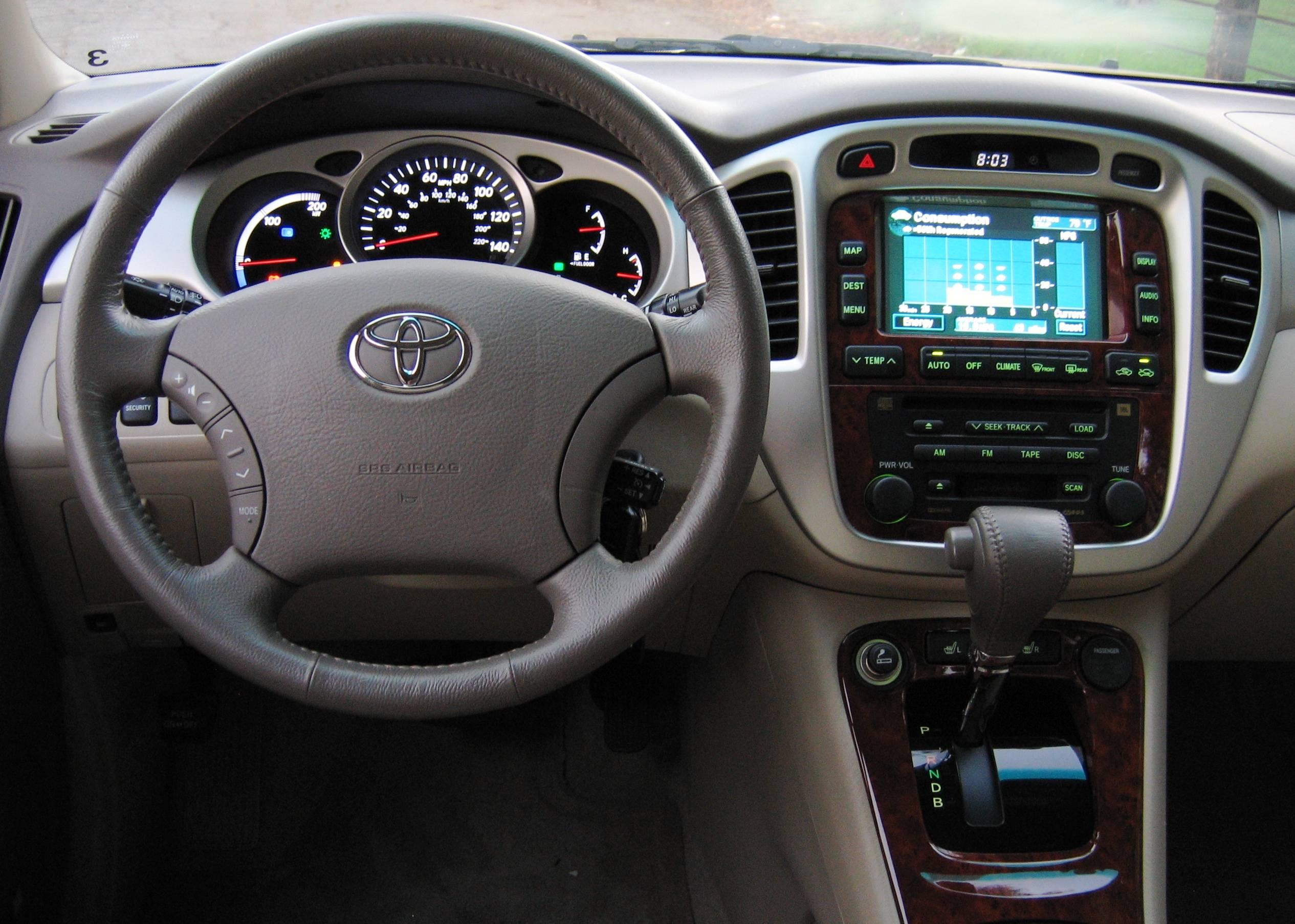 Toyota Highlander Hybrid Interior Toyota Highlander Hybrid Interior Gallery Moibibiki 3 Toyota