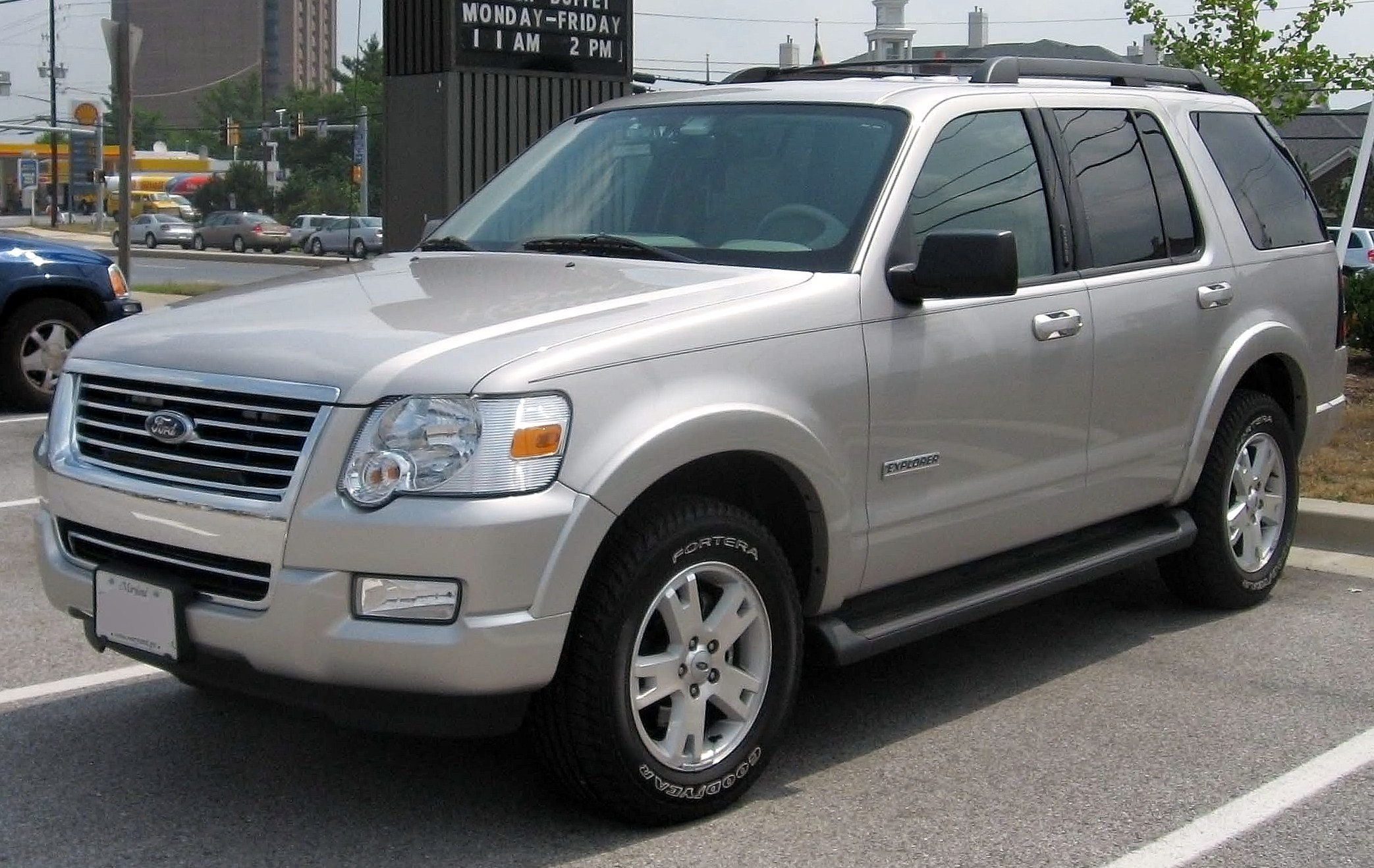 Silver 2007 ford explorer