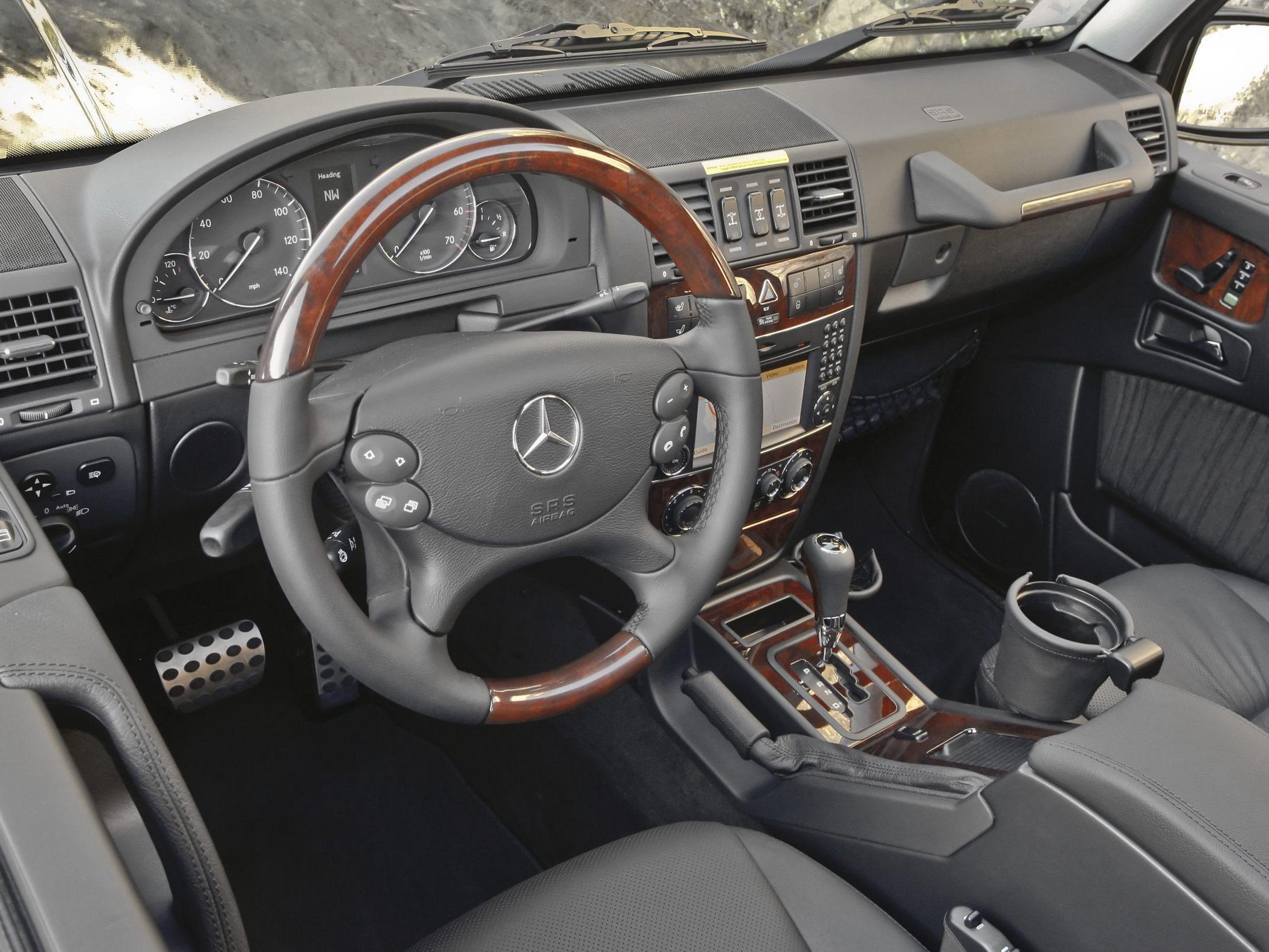 silver 2010 mercedes benz g class - G Wagon Matte Black Interior