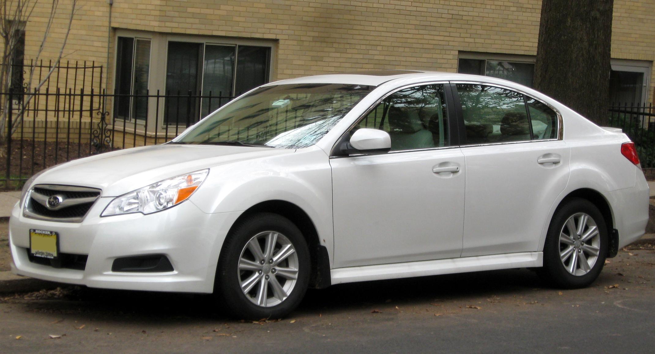 Subaru Legacy: 2.5 L turbo models