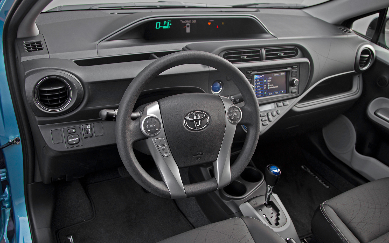 motor reviews trend toyota c front prius quarter three and cars rating