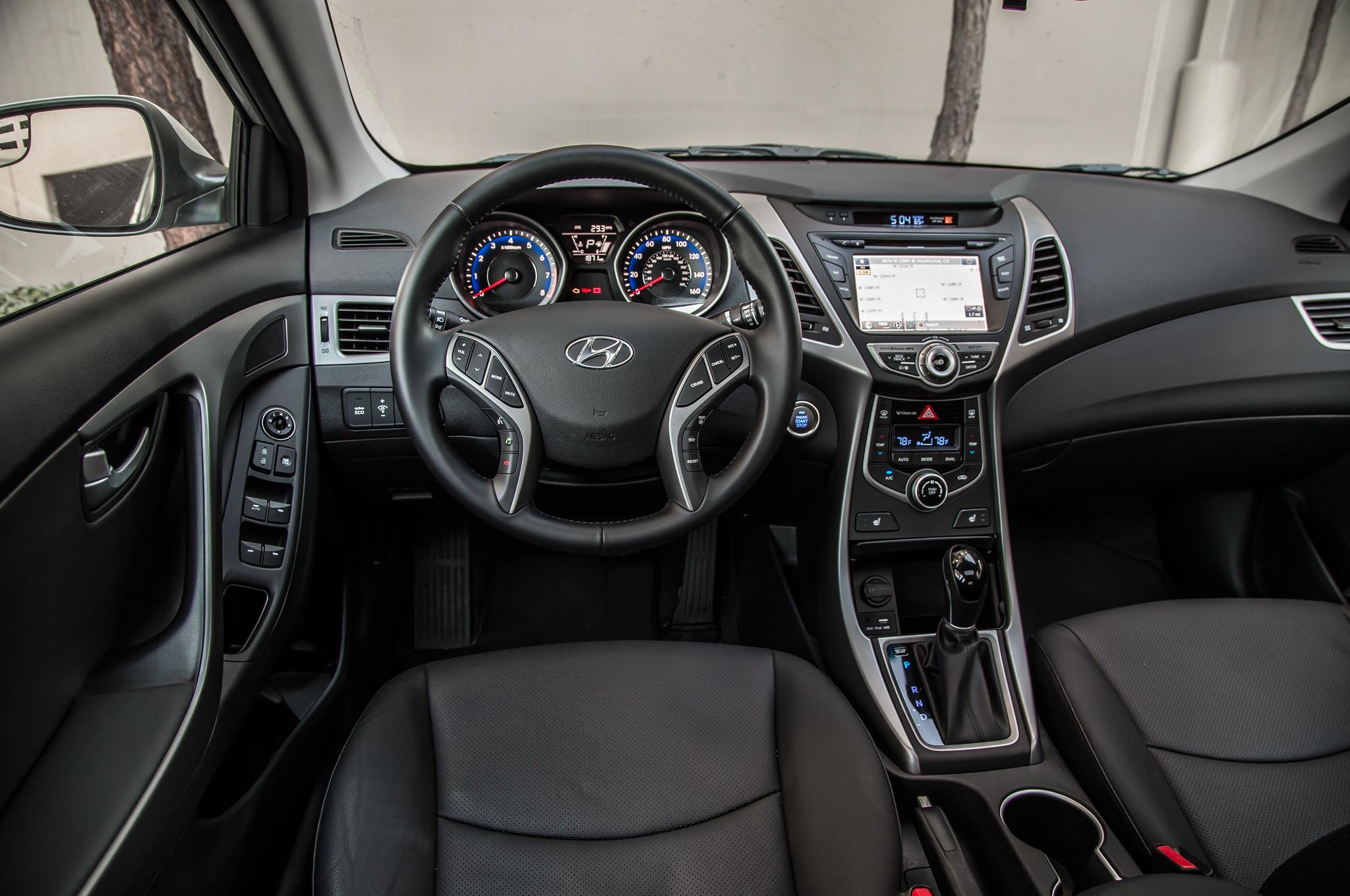 test hyundai motor limited trend elantra center interior first stack cars
