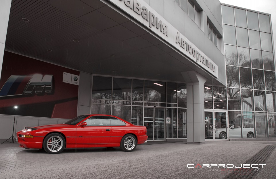 the red devil of bmw 8 Series