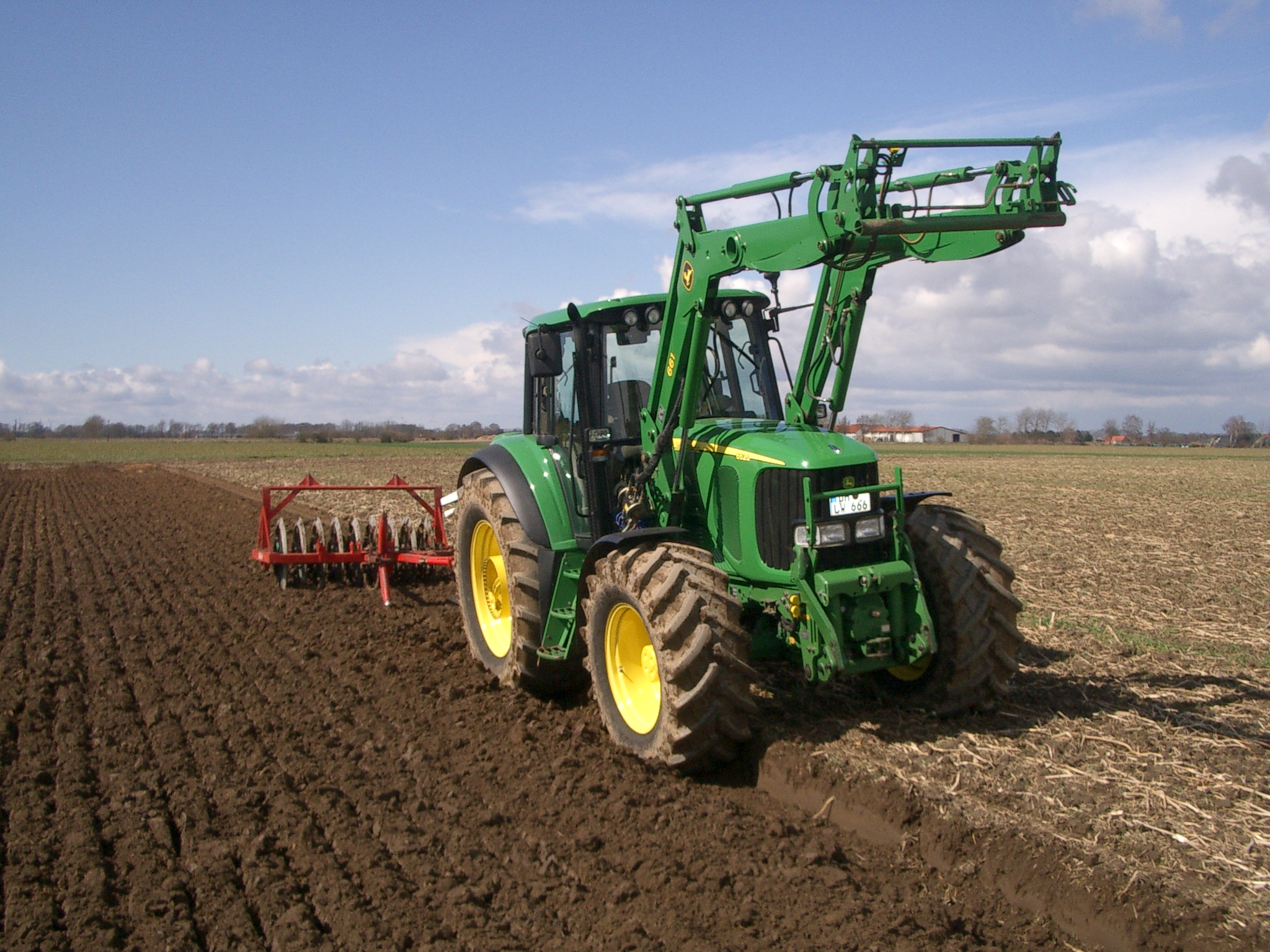 Ploughing is no problem when you have John Deere 6620  #5