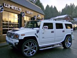 Hummer H2 is one strong truck for jumps and stunts