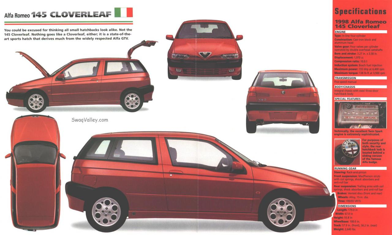 Alfa Romeo 145 Is The Red Venom 1280px Image 6 Springs