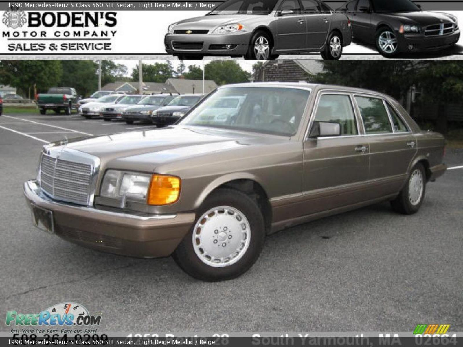 1990 mercedes benz 560 class information and photos for Mercedes benz 1990