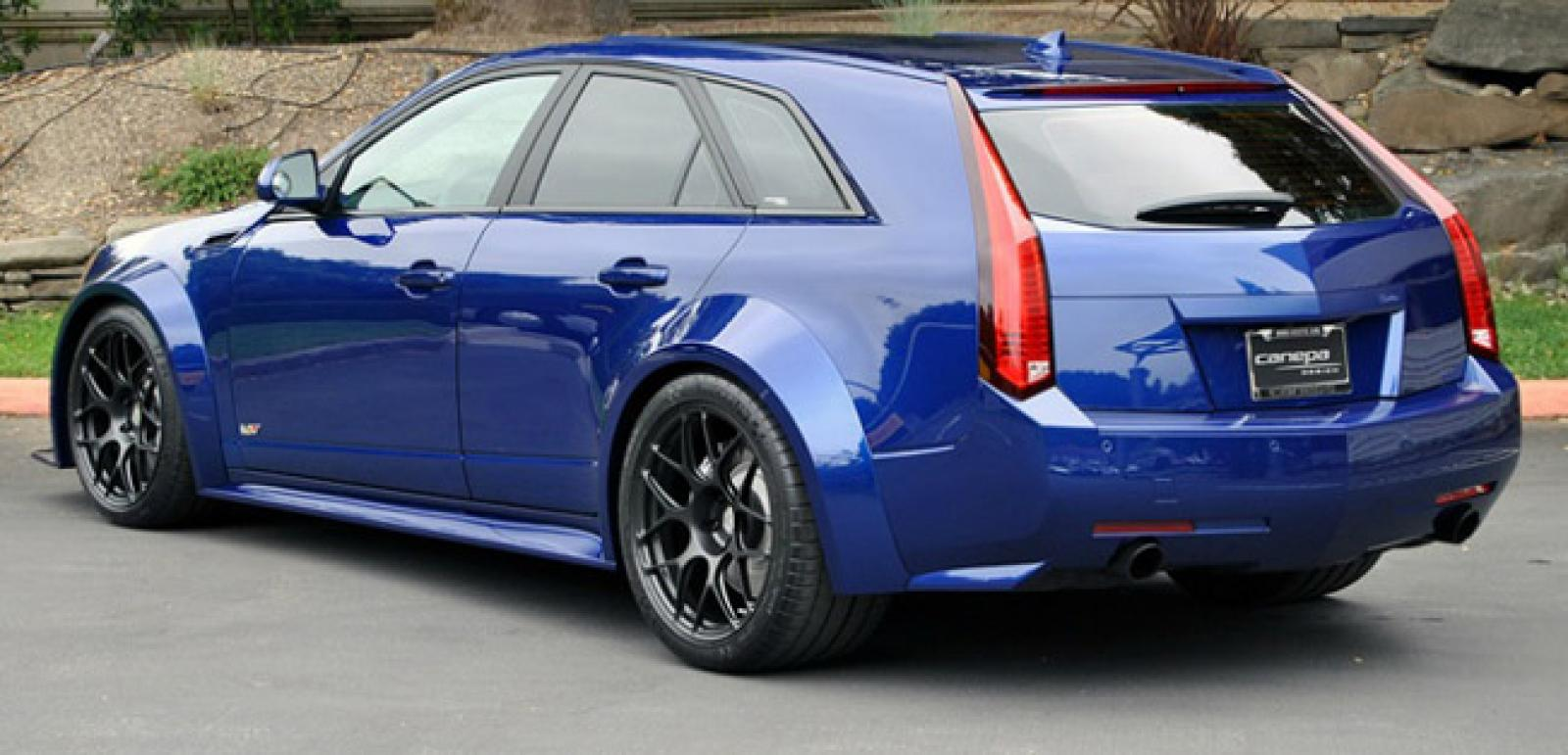 2014 Cadillac Cts V Wagon Blue 200 Interior And Exterior Images