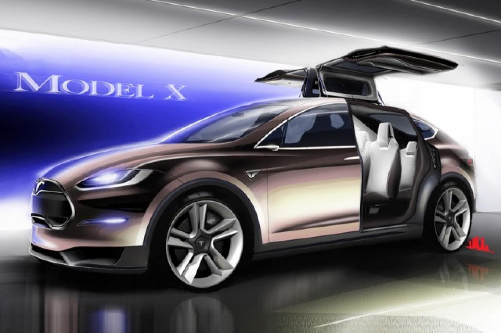 2016 tesla model x information and photos zombiedrive. Black Bedroom Furniture Sets. Home Design Ideas