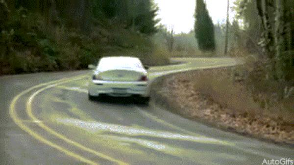 BMW 6 Series crashes brutally into a forest
